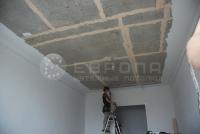 Монтаж натяжного потолка. Этап 1